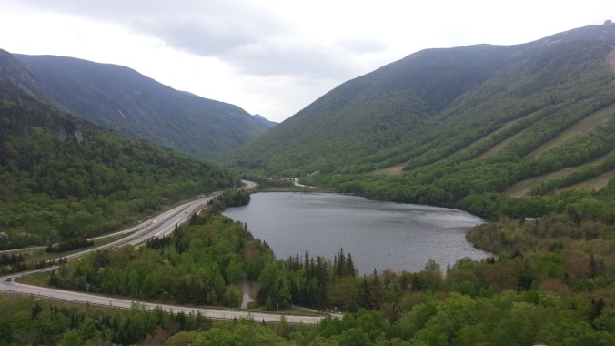 Echo Lake views from Artist's Bluff, Franconia Notch